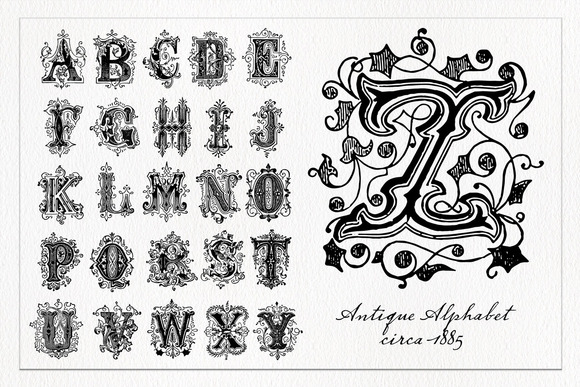 Decorative Alphabet 1 Vector