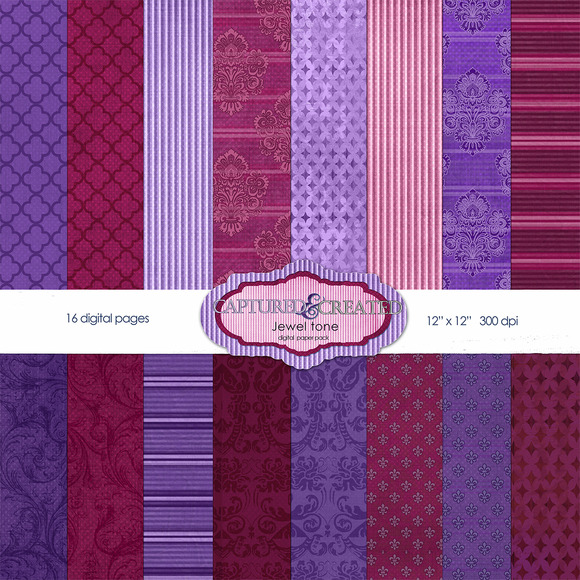 Jewel Tone Paper Pack- 16