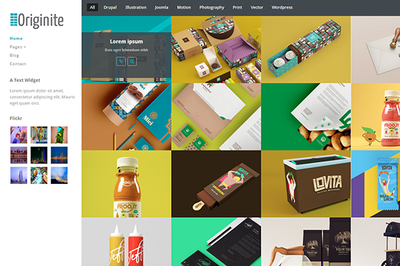 Originite Portfolio WordPress Theme