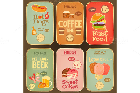 Food Stickers Collection