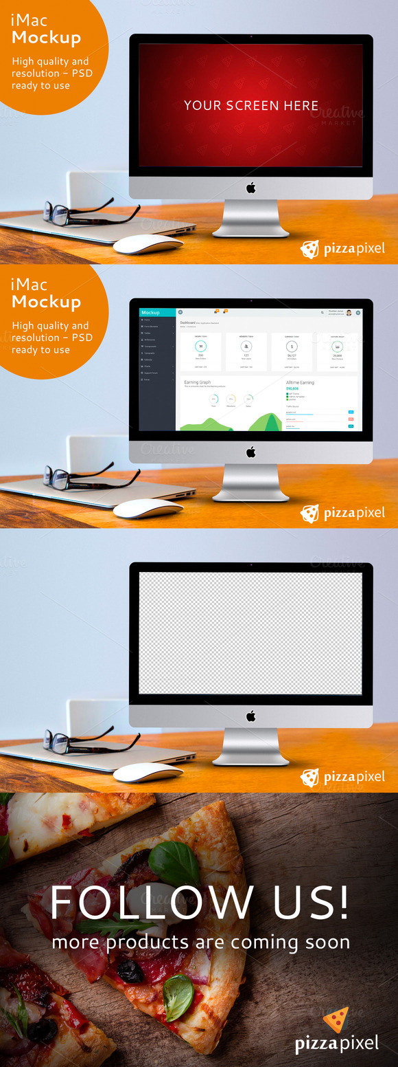 IMac Screen Mockup PSD File