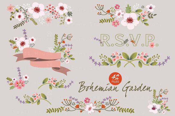 Bohemian Garden Vector