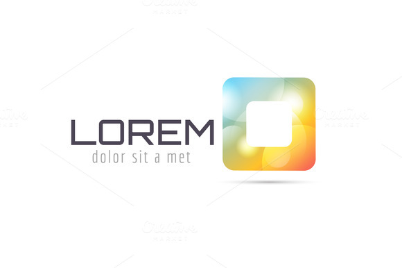 Vector Square Abstract Logo Template