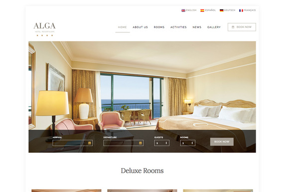 Alga Hotel Resort Spa WordPress