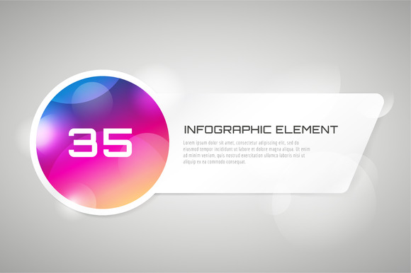 Vector Banner Infographic Template