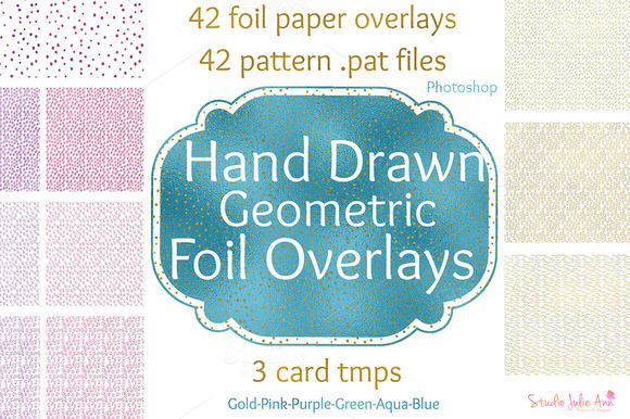 Seamless Foil Paper Overlay Patterns