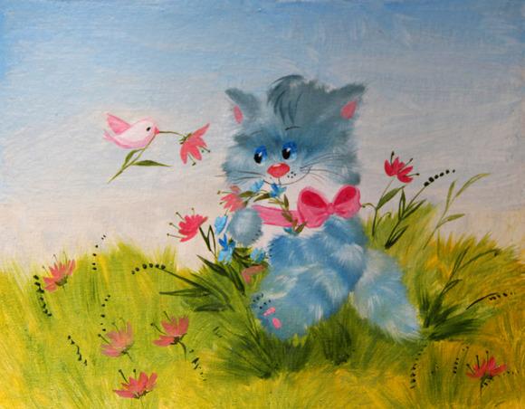 #36 Cute Cat In A Meadow