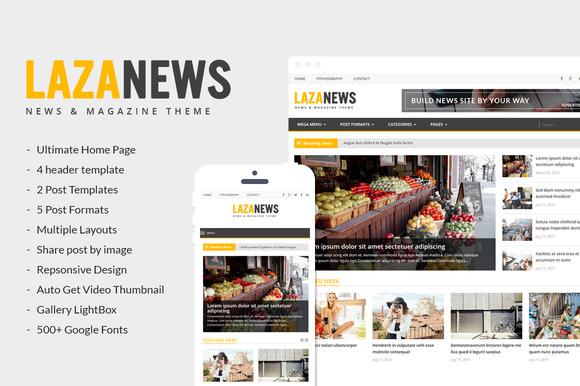 LazaNews News Magazine Newspaper