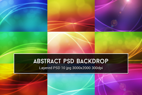 Abstract PSD Backdrop