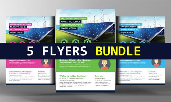 Green Energy Flyer Bundle Templates