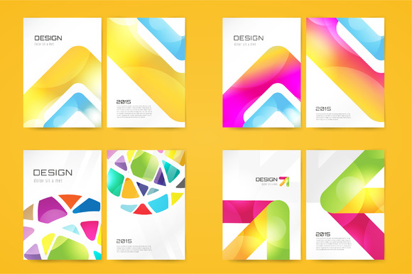Vector Brochure Template Set