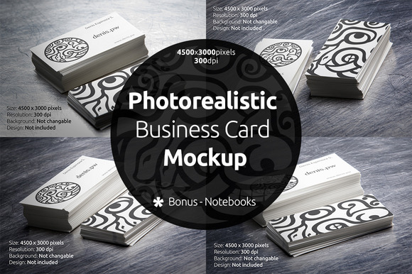 Photorealistic Business Card Mockup