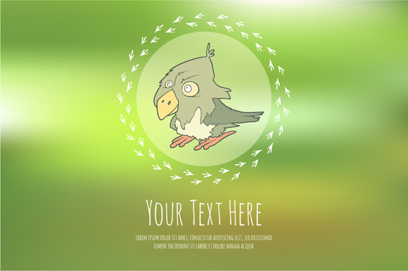 Hand Drawn Vector Cartoon Bird