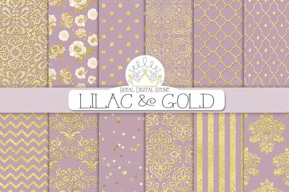 LILAC GOLD Digital Paper