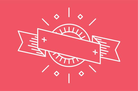 Retro Outline Linear Logo Badge