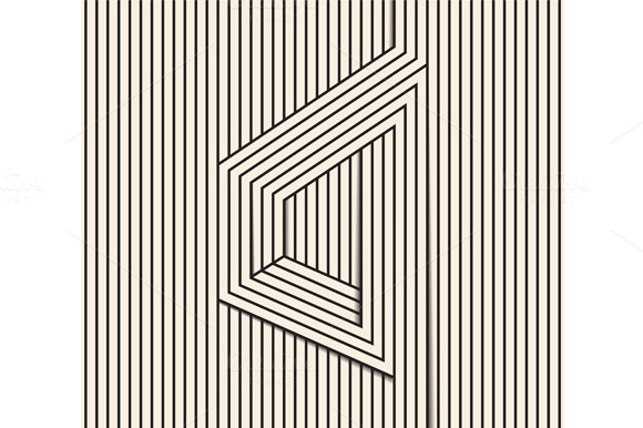 Visual Illusion Line Art