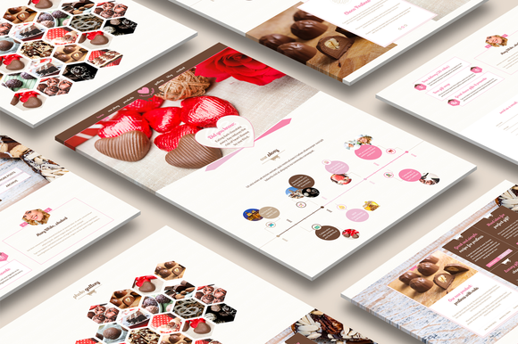Just Pralines One Page PSD Theme
