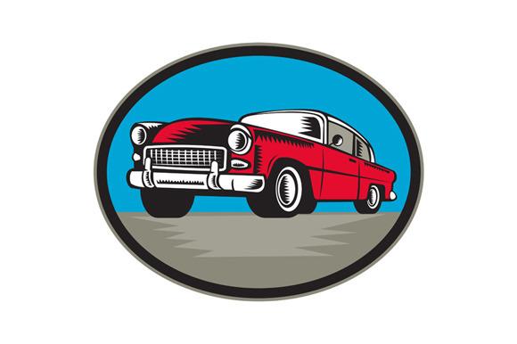 Vintage Classic Car Low Angle Woodcu