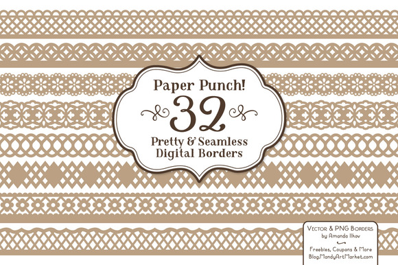 Champagne Vector Lace Borders