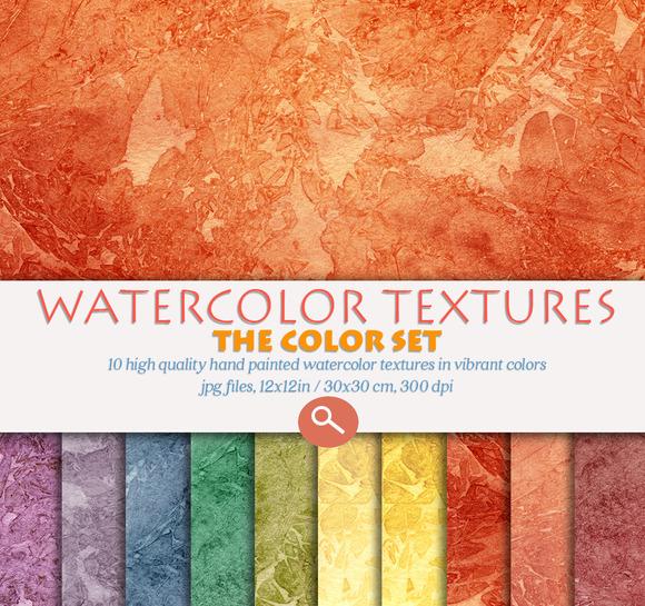 Watercolor Textures Set Brights