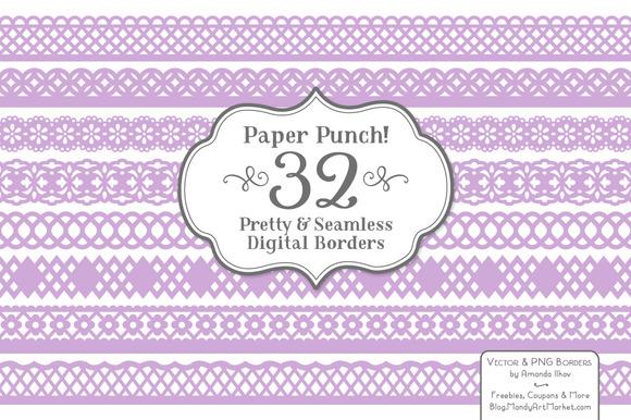 Lavender Lace Borders Clipart