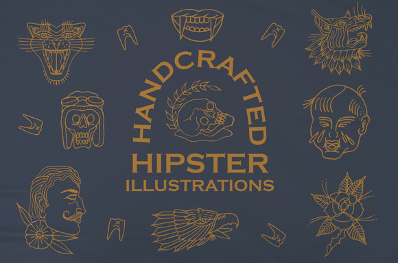Handcrafted Hipster Illustrations