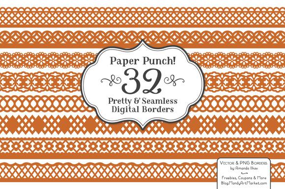 Pumpkin Lace Border Clipart