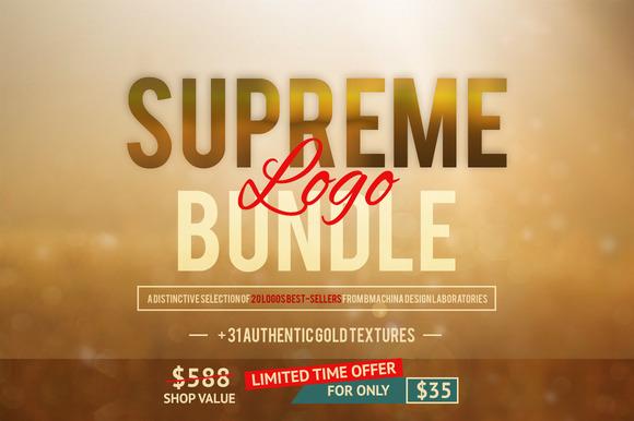 Supreme Logo Bundle Gold Textures
