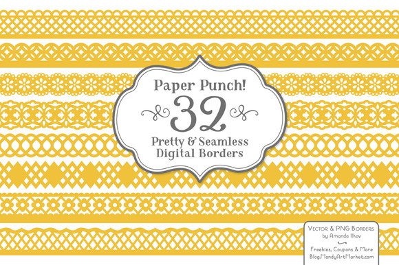 Sunshine Yellow Lace Borders