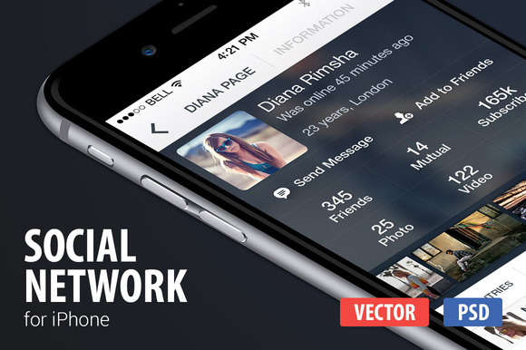 IPhone Social Network
