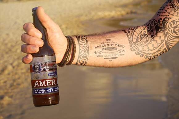 Beer Bottle Tattoo Mockup