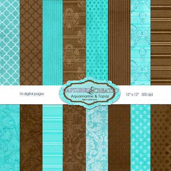 Aquamarine Topaz Paper Pack 16