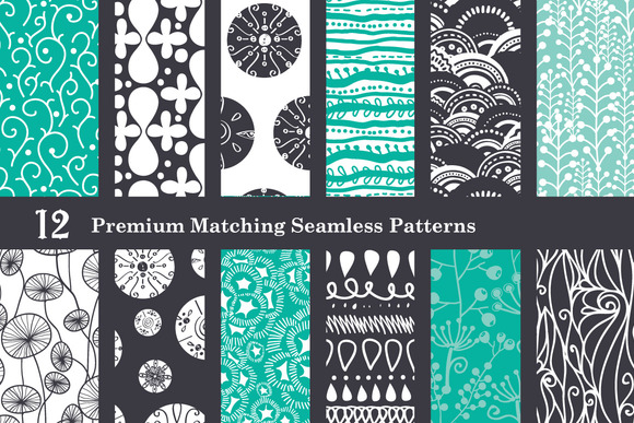 Black Sea Foam Set Of 12 Patterns
