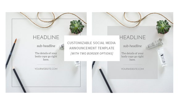 Social Media Announcement Template