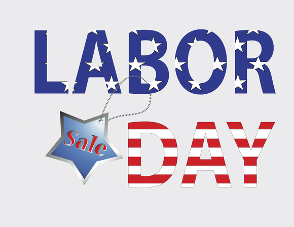 American Labor Day Sale Vector