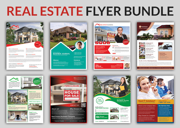 Real Estate Flyer Bundle Templates