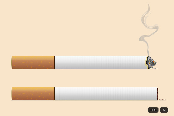 Realistic Cigarette Vector