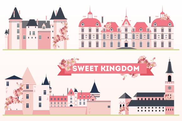 Sweet Kingdom Pink Castles