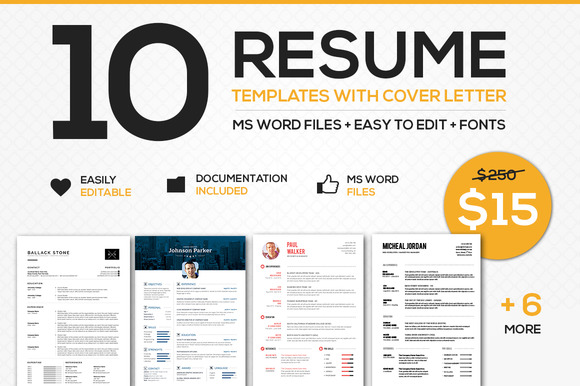 Resume With Cover Letter Bundle WORD