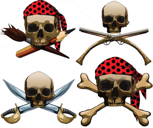 Four Different Jolly Roger