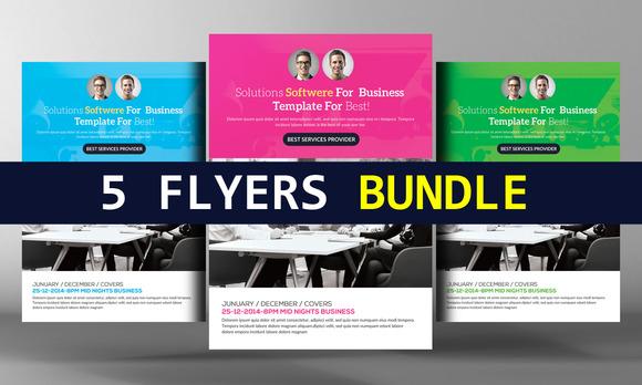 5 Corporate Business Flyer Bundle