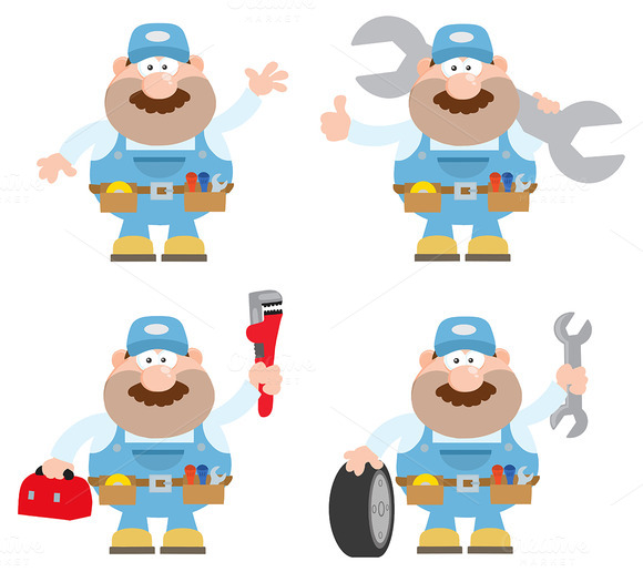 Flat Style Mechanic Collection 5