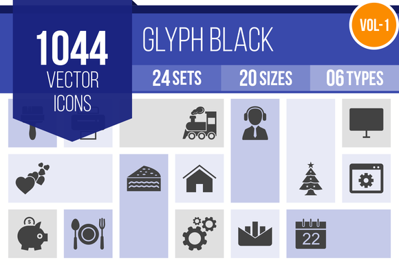 1000 Glyph Icons