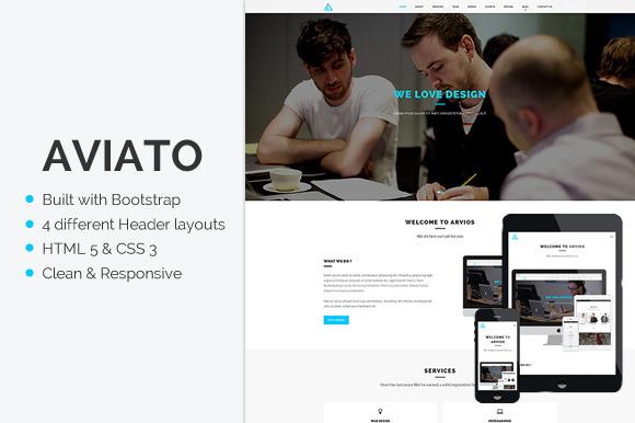 Aviato Onepage HTML Template