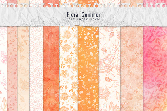 Floral Doodles Digital Papers