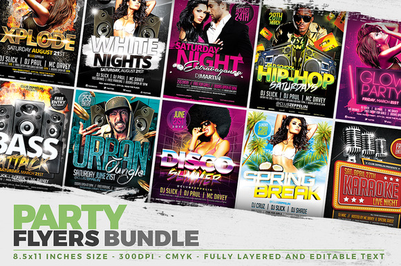 10 Party Flyer Templates FB Covers