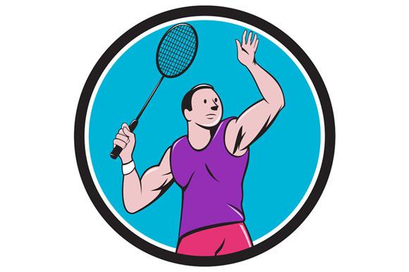 Badminton Player Racquet Striking Ci