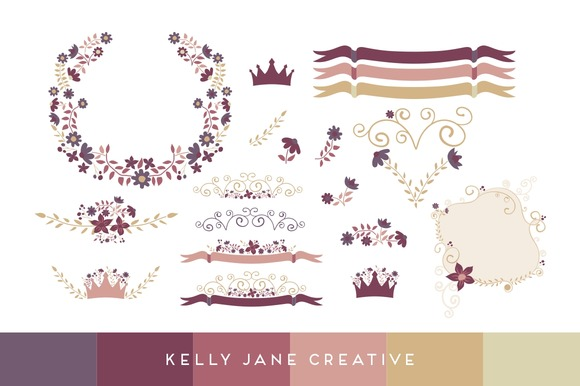 Fall Princess Vector Florals