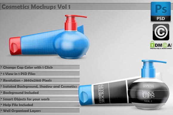 Beauty Cosmetics Mockups Vol 1