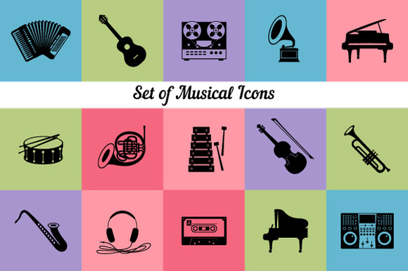 Collection Of Musical Instruments Ic